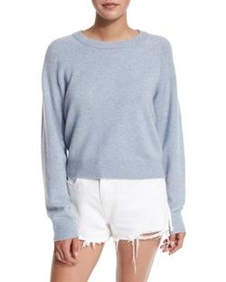 T by Alexander Wang - Cropped Raglan Wool-Blend Sweater