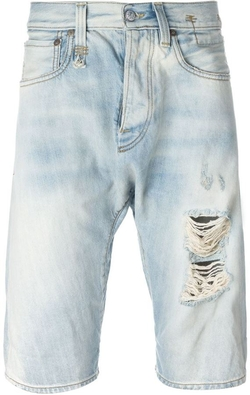 R 13 - Distressed Denim Shorts