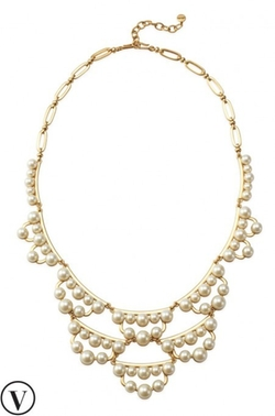 Stella & Dot - Frances Pearl Statement Necklace