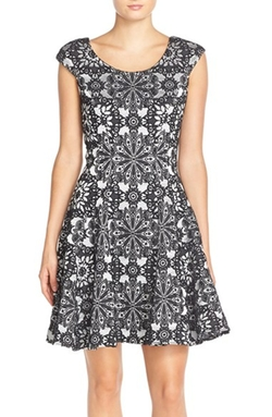 Betsey Johnson - Floral Fit & Flare Dress