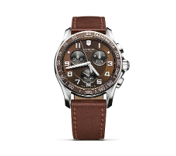 Victorinox Swiss Army - Chronograph with Leather Strap Watch