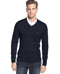 Tommy Hilfiger - Solid V-Neck Sweater