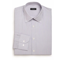 Saks Fifth Avenue Collection  - Regular-Fit Striped Cotton Dress Shirt