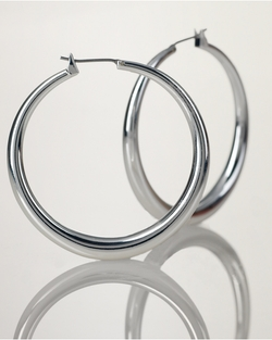 Ralph Lauren - Large Silver Hoop Earrings
