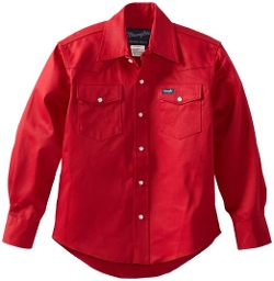 Wrangler  - Boys Basic Solid Snap Shirt