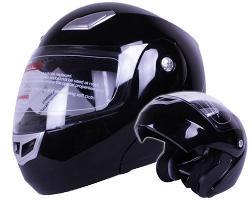 IV2 - Modular Flip up Motorcycle Helmet Gloss Black