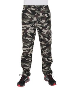 Krisp  - Mens Camouflage Multi Pocket Pants