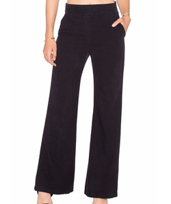 Enza Costa - Silk Noil Wide Leg Trousers