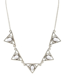 Charlotte Russe - Jeweled Cut-Out Triangle Collar Necklace