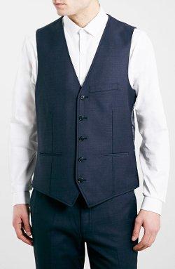 Topman  - Navy Suit Vest