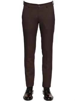 Zzegna - 19cm Wool & Cotton Structured Trousers