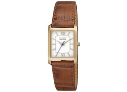 Citizen - Eco-Drive Brown Leather Strap Watch