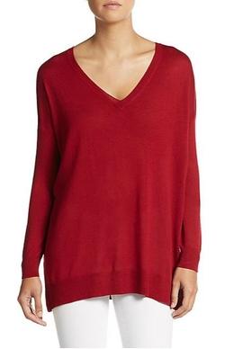 Vince - Silk & Cashmere V-Neck Sweater