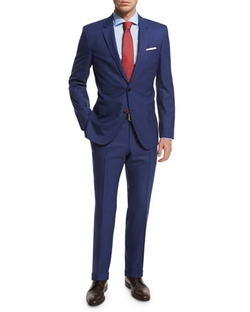 Hugo Boss - Micro-Check Two-Piece Wool Suit