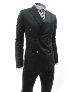 TheLees - Double Breasted Stripe Double Vent Suit
