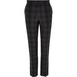 River Island - Green Plaid Smart Slim Pants