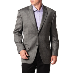 Haggar - Tailored Sport Coat - Grey Herringbone - Classic Fit