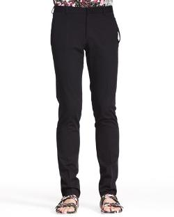 Givenchy   - Tab-Pocket Wool/Mohair Trouser