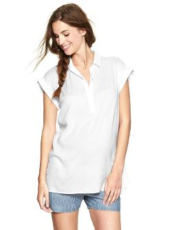 Gap - Cuffed solid henley tunic