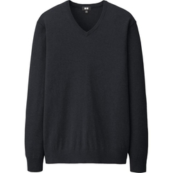 Uniqlo - Cotton Cashmere V Neck Sweater