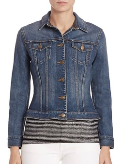 Burberry Brit  - Kirkella Denim Peplum Jacket