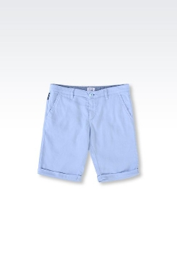 Armani - Shorts In Stretch Linen