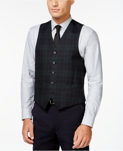 Lauren Ralph Lauren - Navy And Green Tartan Classic-Fit Vest