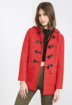 Forever21 - Hooded Toggle Coat