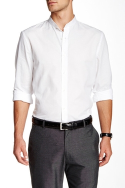 Perry Ellis - Solid Long Sleeve Shirt