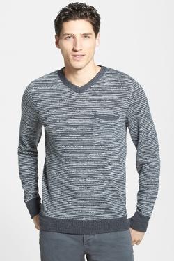 Grayers - Digital Merino Wool V-Neck Sweater