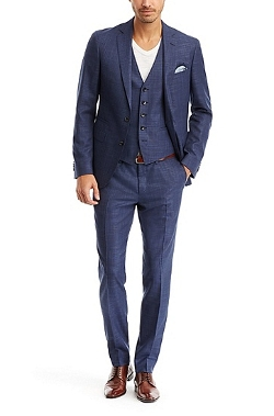 Boss - Italian Virgin Wool and Silk Three-Piece Suit