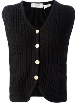 Céline Vintage - Cable Knit Gilet