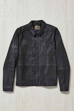 Urban Outfitters - Your Neighbors Suede Moto Trucker Jacket