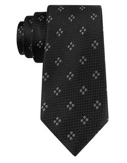 Black Brown - Silk Diamond Print Tie