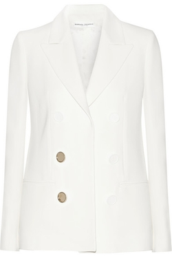 Barbara Casasola - Double Breasted-Effect Crepe Blazer