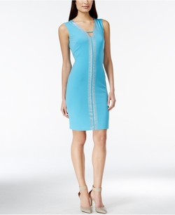 Calvin Klein - Sleeveless Rhinestone Dress