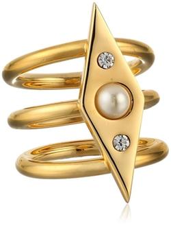Rebecca Minkoff  - Three-Row Band Ring