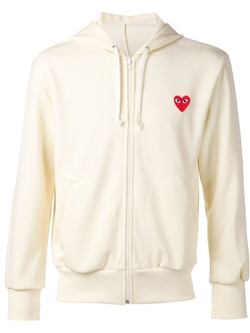 Comme Des Garçons Play   - Embroidered Heart Hoodie