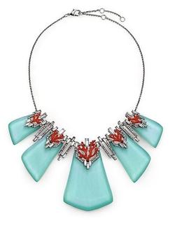 Alexis Bittar  - Articulated Bib Necklace