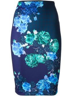 Pinko  - Bardana Printed Pencil Skirt