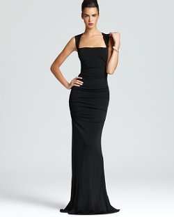 Nicole Miller  - Sleeveless Stretch Gown