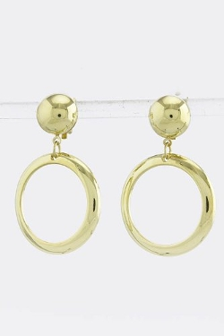 Baubles & Co - Hoop Dangle Earrings