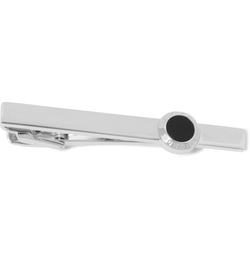 Dunhill - Onyx And Silver Tie Clip