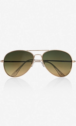 Express - Gold Frame Aviator Sunglasses