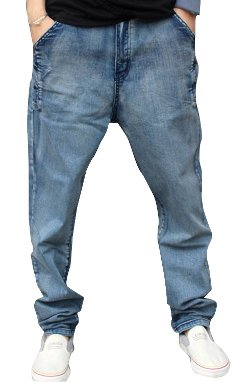 Chalmart-Mipinger - Hip Hop Loose Denim Pencil Board Trousers