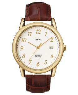 Timex - Brown Leather Strap Watch