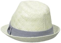 Haggar - Pattern Straw Fedora Hat
