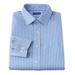 Croft & Barrow - Striped Spread-Collar Dress Shirt