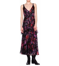 Etro - Sleeveless Floral-Print Tiered Midi Dress