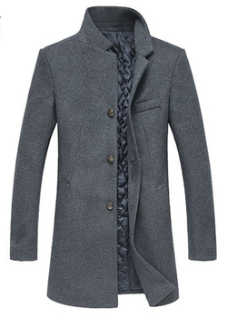 Chouyatou - Wool Blend Long Business Coat